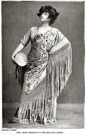 English: Opera singer Olive Fremstad