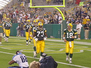 Green Bay Packers coming back out onto the fie...