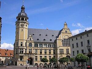 Das Rathaus in Köthen (Anhalt).