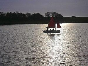 English: Sail Boat Fairhaven Lake