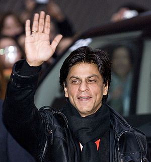 English: Indian actor Shahrukh Khan, arrival f...