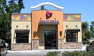 A Taco Bell fast food restaurant on El Camino ...