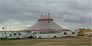 English: The circus comes to town in Aberdeen ...