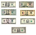 $1 to $100 notes