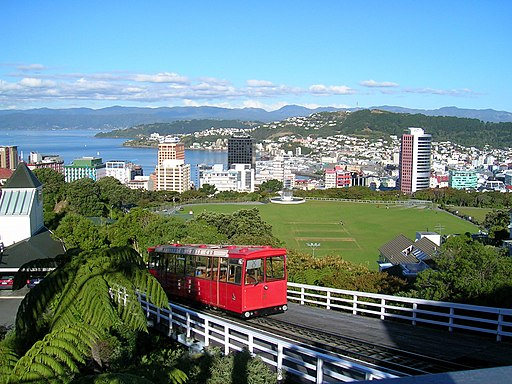 Wellington NZ-cablecar-topview