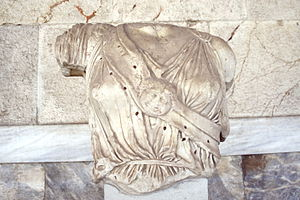 Fragmentary torso of Athena, dating from 420/4...
