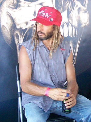 Tony Alva, greeting fans and signing.