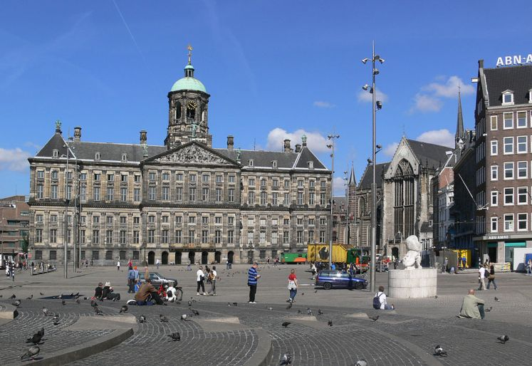1024px Amsterdam Dam 2008 Relato de viagem, Holanda