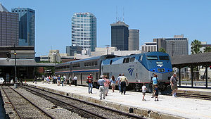 With the skyline of downtown Tampa as a backdr...