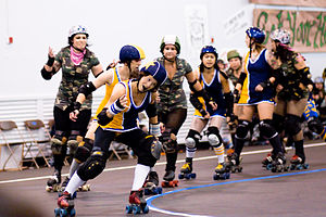 Lead jammer rocks out at Roller derby; Bay Are...