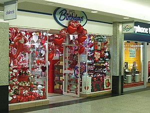 English: Be my valentine! Heart shaped balloon...
