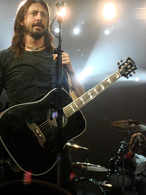 English: Dave Grohl, frontman of the Foo Fight...