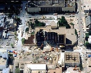 English: Aerial view of Alfred P. Murrah Feder...