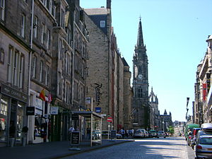 looking up The Royal Mile, City of Edinburgh, ...