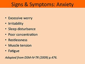 Signs of nervousness