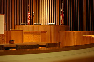 college of law trial courtroom