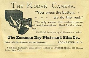 """A Kodak Camera advertisement appeared in..."