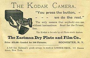 """A Kodak Camera advertisement appeared in..."