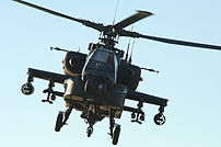 An AH-64 provides air support over Tikrit, Ira...