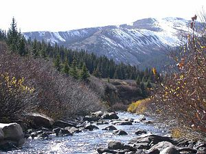 The headwaters of the Arkansas River near Lead...