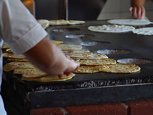 Tortillas being made in Old Town San Diego.