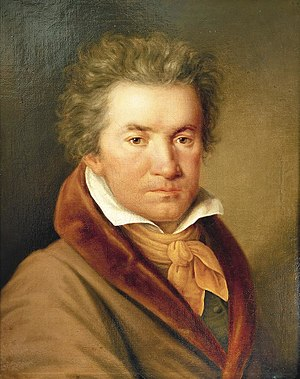 Portrait of Beethoven in 1815, two years after...