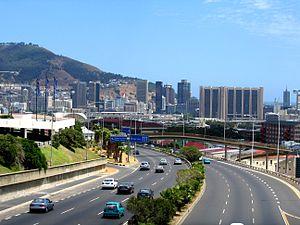 English: National road N2 entering City Bowl o...