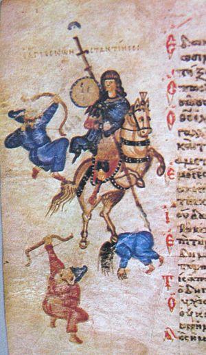 Constantinus I Magnus from Chludov Psalter