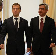Dmitry Medvedev in Armenia, 20 August 2010