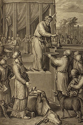 Moses Consecrates Aaron and His Sons and Offer...
