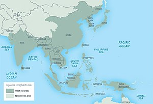 Geographic distribution of Japanese encephalit...