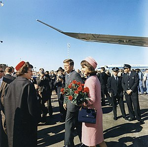 President John F. Kennedy and Jacqueline Kenne...