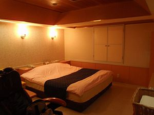 English: Guest room in Japanese Love hotel. 日本...