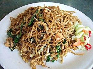Fried noodle, Jakarta, Indonesia