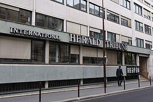 Français : International Herald Tribune, rue d...