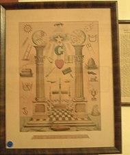 Imagen de los pilares Jaquin y Boaz, otros emblemas Masónicos de salomón