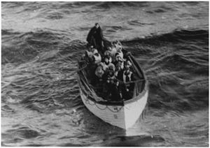 Photograph of a Lifeboat Carrying Titanic Surv...