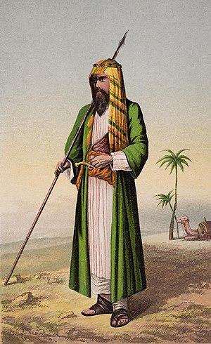 Richard Burton vestido de árabe. Pintura