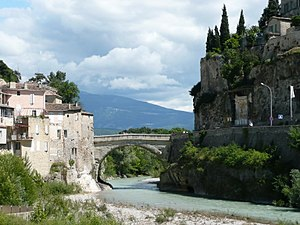 The Roman Bridge at Vaison-la-Romaine, Vauclus...