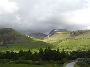 English: Sca Fell massif from north of Wastwater.