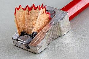 Pencil sharpener and pencil.