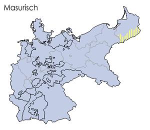 Locator map for the minority of Masurian langu...