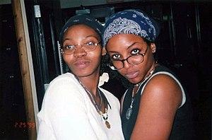 Two women wearing bandanas, 1999.