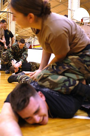 Sasebo, Japan (Dec 18, 2003) -- Sailors practi...