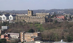 Main Arts and other Bangor University building...