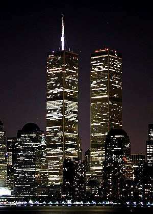 The twin towers of the World Trade Center (New...