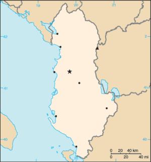 000 Shqipëria harta