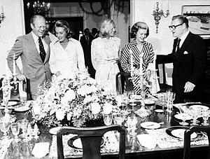 Then-Vice President Nelson Rockefeller (right)...