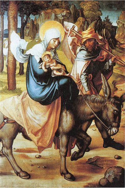"""""""Fuga para o Egito"""", Pintor: Albrecht Dürer."""