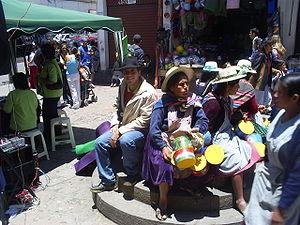 Vista de uno de los mercados de la Ciudad de L...
